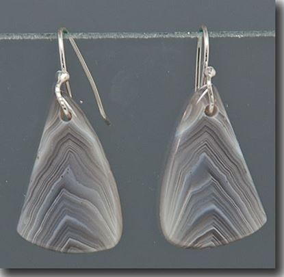 Botswana Agate Drop Earrings on sterling wires