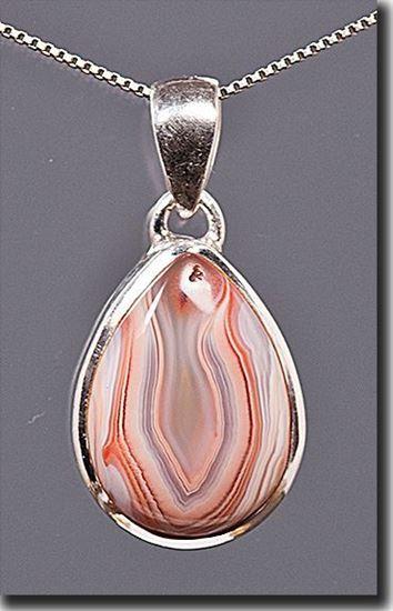 Botswana Agate set in sterling pendant