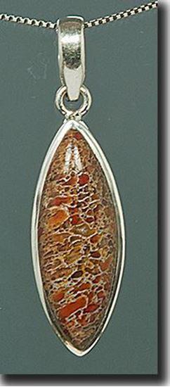 Dinosaur Bone Silver Pendant
