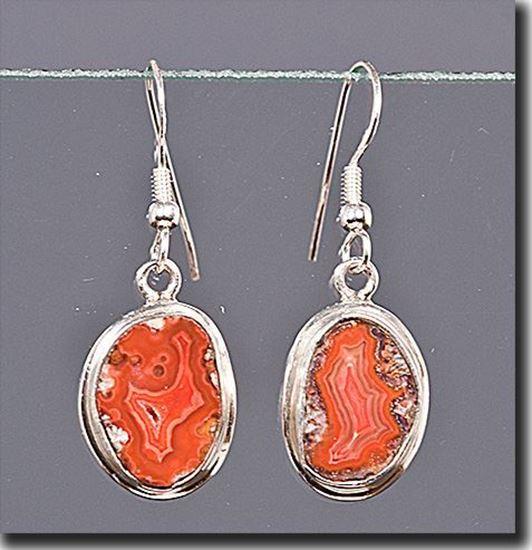 Dryhead Agate Silver Earrings
