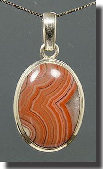Dryhead Agate Silver Pendant