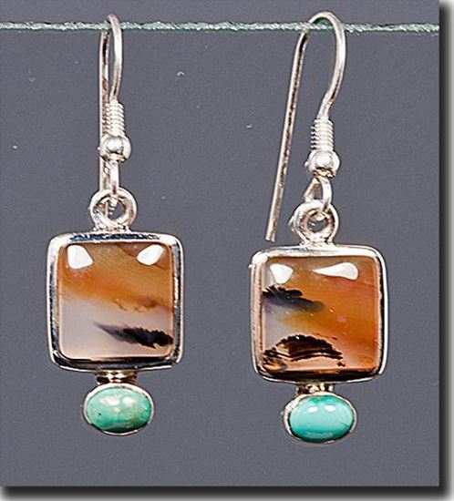 Montana Moss Agate Earrings