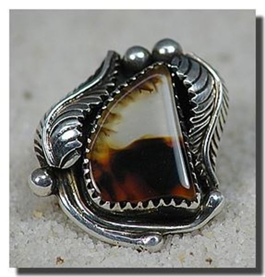 Montana Moss Agate Silver Ring
