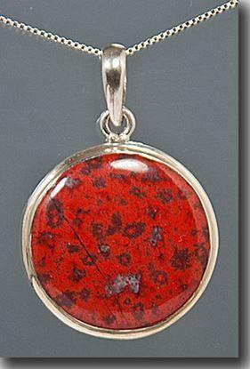 Cady Mountain Red Jaspagate Silver Pendant