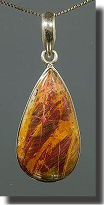 Pilbara Jasper Silver Pendant