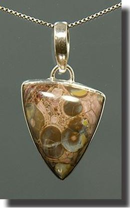 Birdseye Rhyolite Silver Pendant