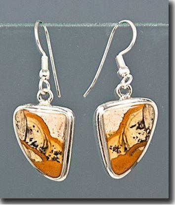 African Queen Jasper Silver Earrings