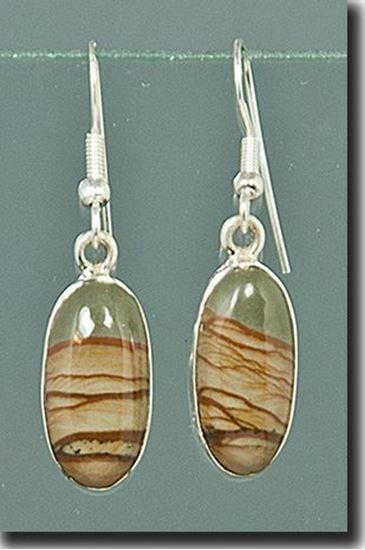 Owyhee Cripple Creek Picture Jasper Silver Earrings