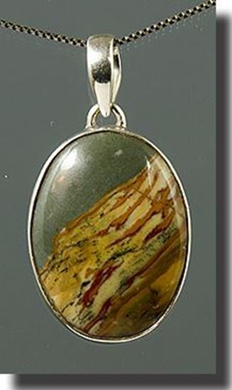 Owyhee LED Picture Jasper Silver Pendant