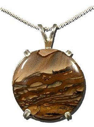 Oregon Biggs Picture Jasper Silver Pendant
