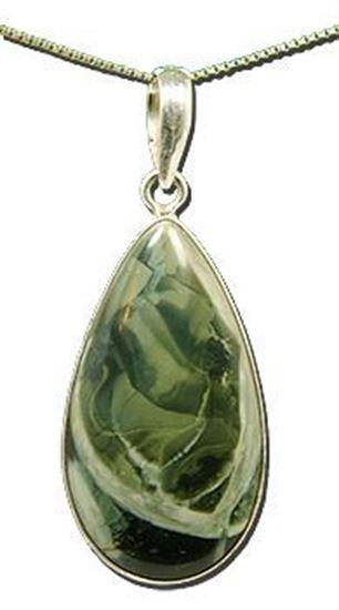 Oregon Morrisonite Jasper Silver Pendant