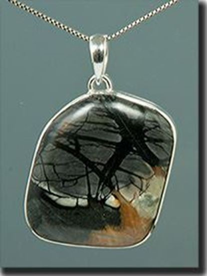 Utah Picasso Marble silver pendant