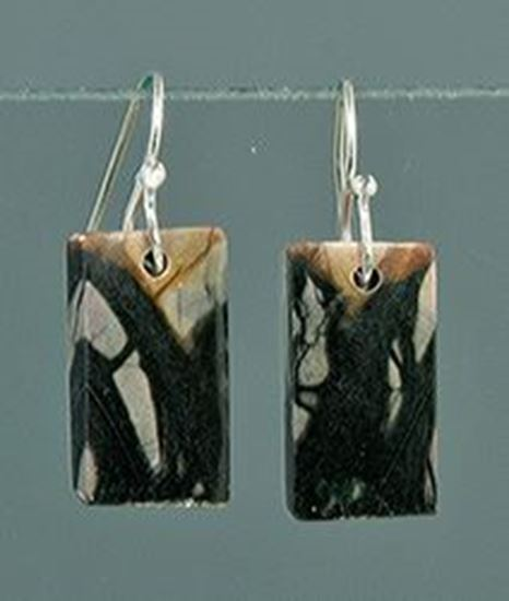Utah Picasso Marble silver Earrings
