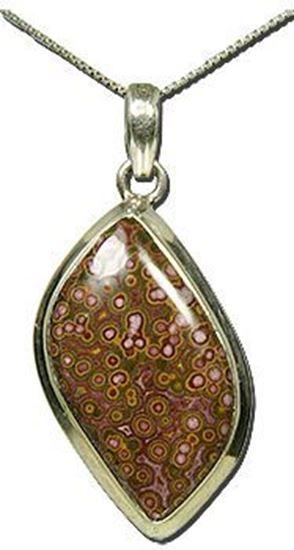 California Morgan Hill Poppy Jasper Silver Pendant