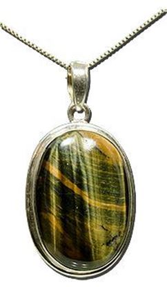Tiger Eye Silver Pendant