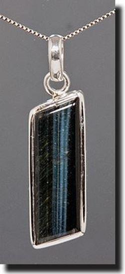 Hawks Eye Silver Pendant