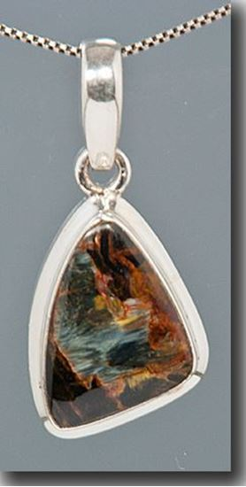 Pietersite Silver Pendant