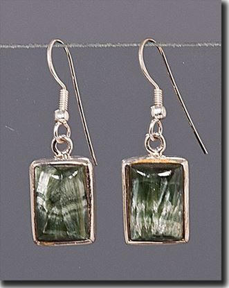 Seraphinite Silver Earrings