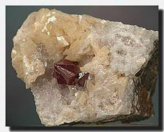 Cinnabar twined crystal