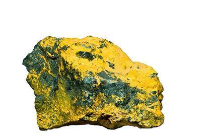 Orpiment mineral specimen from Mercer Utah.