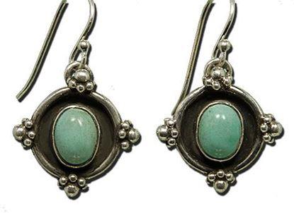 Navajo Style sleeping beauty turquoise sterling earrings