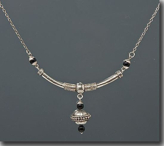 Black Onyx Sterling Necklace