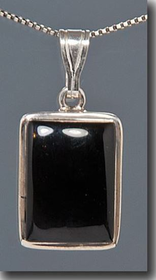 Black Onyx Sterling Pendant