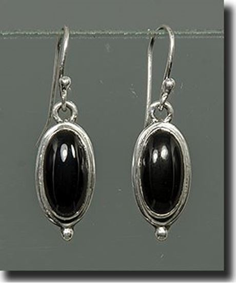 Black Onyx Sterling Earrings
