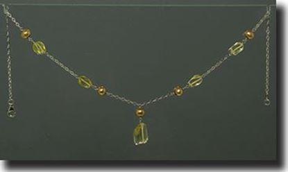 Lemon Quartz & Peearl Necklace & Bracelet
