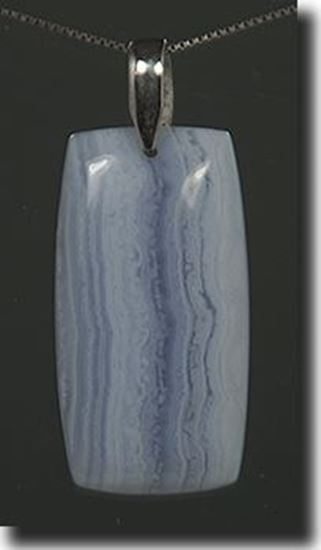 African Blue Lace Agate Pendant