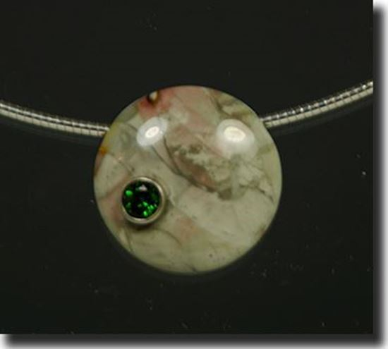 Idaho Willow Creek Jasper & Chrome Diopside Pendant