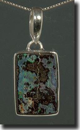 Boulder Matrix Opal Silver Pendant