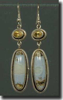 Arizona Blue Opal Silver Earrings