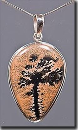 Chinese Paint Brush Jasper Silver Pendant