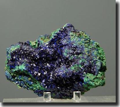 Rare Mineral Specimen Azurite & Malachite