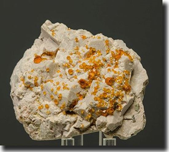Spessartite Garnet on Feldspar from China