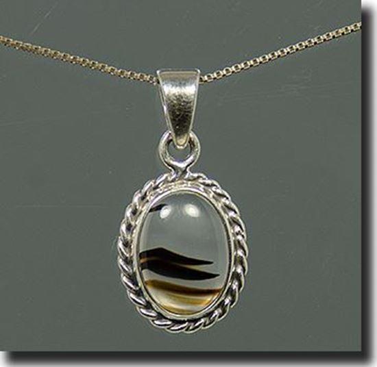 Montana Moss Agate Silver Pendant