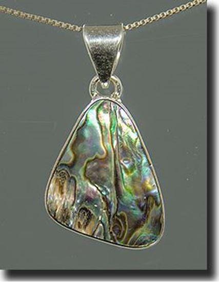 Silver Abalone Shell Pendant