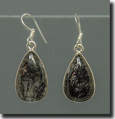 Tourmalinated Quartz Silver earrings
