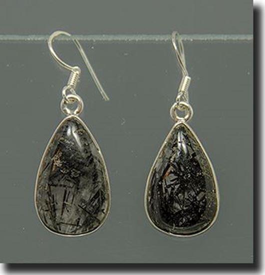 Tourmalinated Quartz Silver earrings