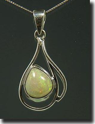 Ethiopian Welo opal silver pendant