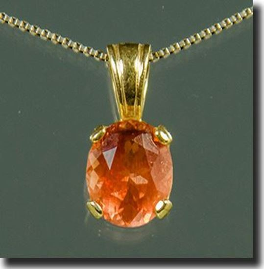 Oval Oregon Sunstone pendant