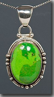 Dyed Green Turquoise Pendant