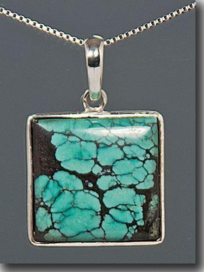 blue Quartz sterling silver Pendant Turquoise silver Pendant Jewelry Tibetan Turquoise Pendant Turquoise