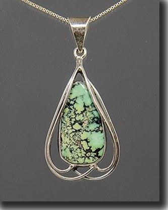 Silver Pendant set with the gemstone Variquoise
